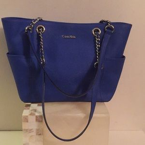 Calvin Klein Blue shoulder bag